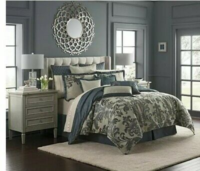 $ CDN250.67 • Buy Waterford Everett Reversible Queen Comforter 4 Piece Set - Brand New!