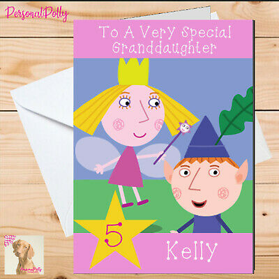 £2.75 • Buy Personalised Ben And Holly Card Birthday Unofficial Nanny Plum Elf Fairy Pretty