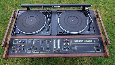 £1750 • Buy Citronic Hawaii Mk2 Vintage Disco Double Deck Console Restored Beautifully