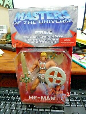 $15.06 • Buy 2001 MASTERS OF THE UNIVERSE HE-MAN FIGURE SET MOC MATTEL  W/Spec Comm Video