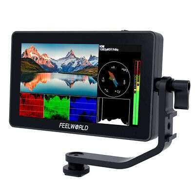 AU242.99 • Buy FEELWORLD F6 Plus 5.5 Inch 3D LUT Touch Screen Camera Field Monitor 4K HDMI HDR