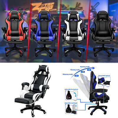 AU109.39 • Buy Gaming Chair Office Leather Computer Chairs Seating Recliner Seat AU STOCK