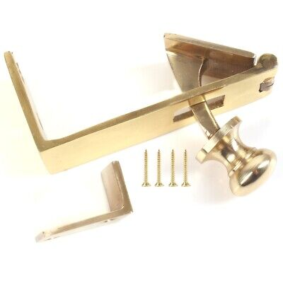 £6.43 • Buy BRASS COUNTER FLAP CATCH Hinge Pub Bar Shop Lift Up Hatch Stay WITH FIXINGS NEW