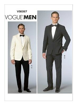 £17.50 • Buy Vogue Advanced SEWING PATTERN V9097 Mens Tuxedo/Dinner Jacket & Trousers