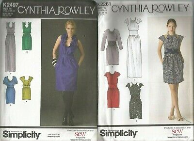 3 X Cynthia Rowley/Simplicity Ladies Dresses Dressmakers Patterns Size 6-20 • 5£