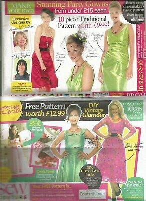 3 X Sew Couture Ladies Wedding /party Dresses  Dressmakers Patterns Size 8-16 • 5£