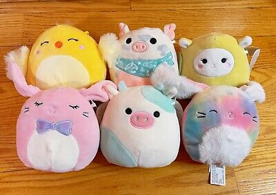$ CDN63.42 • Buy Set Of 6 Squishmallows Kellytoy 2021 Springtime Easter 5  Mini Plush Doll
