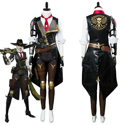 AU198 • Buy Game Overwatch OW Ashe Whole Set Cosplay Costume Overwatch Uniform Suit Outfit
