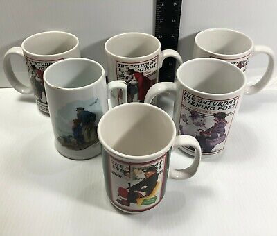 $ CDN15.22 • Buy Norman Rockwell Saturday Evening Post Looking Out To Sea Coffee Mugs Cups