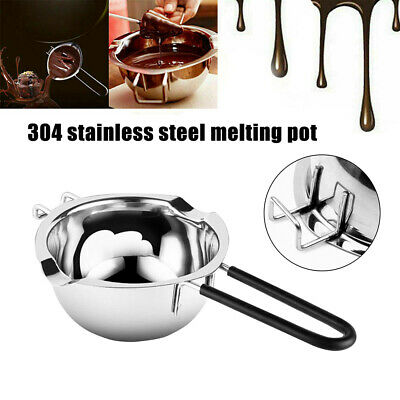 UK Stainless Steel Wax Melting Pot Double Boiler Scented Candle Soap Making DIY • 6.79£