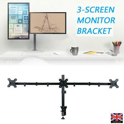 £18.99 • Buy Triple Arm Desk Mount LCD LED TV Computer Monitor Bracket Stand 13 -24  Screen