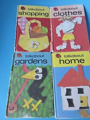 Ladybird Books Series 735 TALKABOUT Clothes Home Gardens Shopping 1973 - 1976 • 0.99£