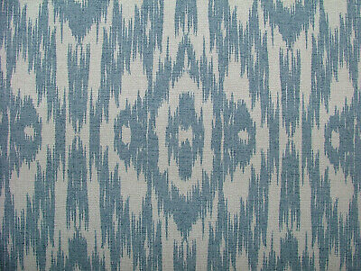 13 Metres Ashley Wilde Ikat Blue Cotton Fabric Curtain Roman Blinds Upholstery  • 13£