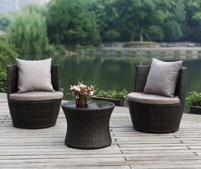 AU299 • Buy Outdoor Synthetic (Non Rattan) Lounge Setting/3 Piece/RRP $1100/Local Delivery