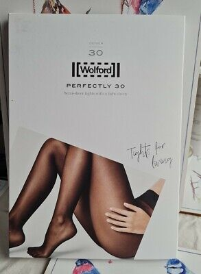 New Wolford Nearly Black Perfectly 30 Tights  • 20£