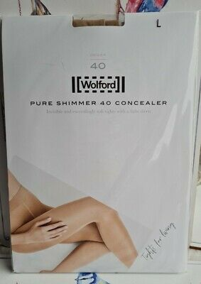 Wolford Large Pure Shimmer 40 Concealer Tights • 30£