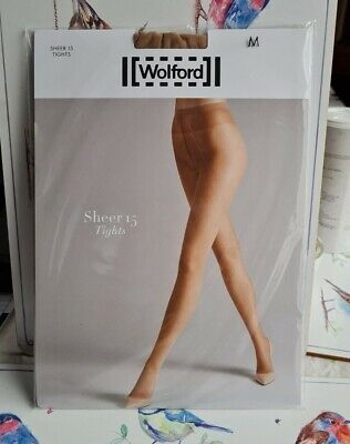 Wolford Sheer 15 Tights In Sand Size Medium  • 14£