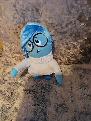 Inside Out Plush Toy - Sadness - Disney Pixar Soft Teddy Doll Collectable Movie  • 8£