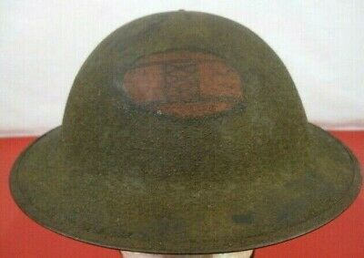 $349.99 • Buy WWI US Army AEF M1917 Helmet W/Liner Hand Painted  30th Infantry Division Emblem