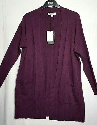 £39.90 • Buy M & S  Ladies Luxury Pure Cashmere Open Front Cardigan Ribbed Sleeve Size Small