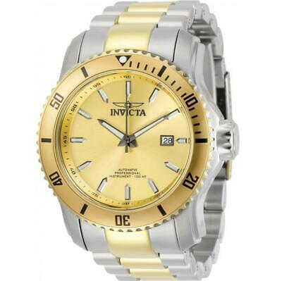 $ CDN1.24 • Buy Invicta Pro Diver 30558 Men's Round Two-Tone Gold Dial Automatic Date Watch