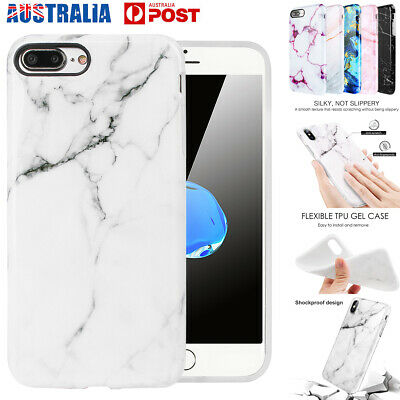 AU7.89 • Buy For IPhone XR XS Max 7 8 6 Plus Slim Marble Soft TPU Shockproof Armor Case Cover