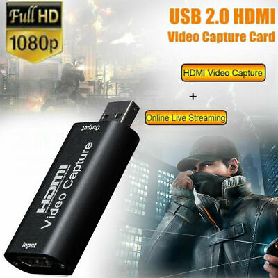 HDMI To USB2.0 Video Capture Card 1080P HD Recorder Game/Video Live Streaming • 0.01£
