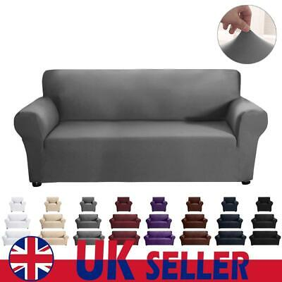 UK 1 2 3 Sofa Couch Slipcover Stretch Cushion Cover Pillow Case Protector Decor • 16.69£