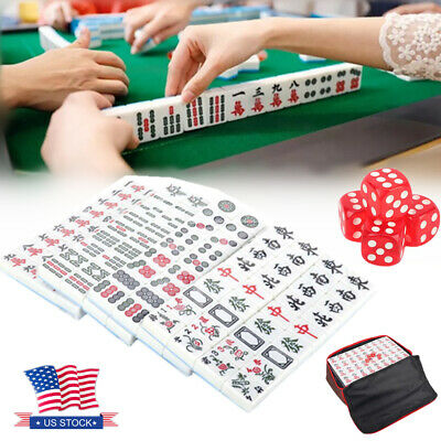 $37.69 • Buy 144 Tiles Mahjong Set Chinese Numbered Tiles Game W/ Carry Bag Gift Family Blue