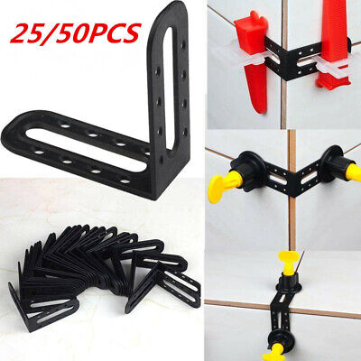 £7.99 • Buy 50pcs Male Angle Leveling 90 Degree Tool Tile Leveler Spacers Fixed Locate Tools
