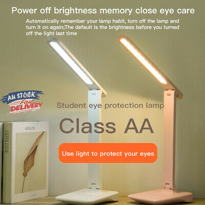 AU13.39 • Buy Touch LED Desk Lamp Bedside Study Reading Table Light USB Ports Dimmable IP67 AU