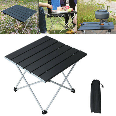 Portable Aluminum Roll Up Table Folding Camping Garden Outdoor Picnic Party UK • 12.98£
