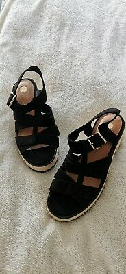 Black Gladiator Sandals Size 7 • 12£