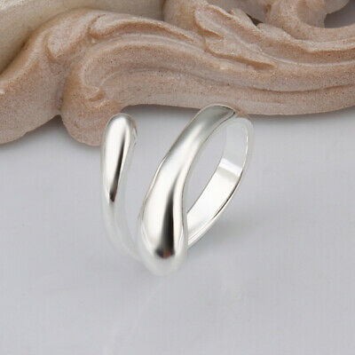 Adjustable 925 Sterling Silver Womens Ladies Jewellery Gift Ring Fast Delivery • 0.99£