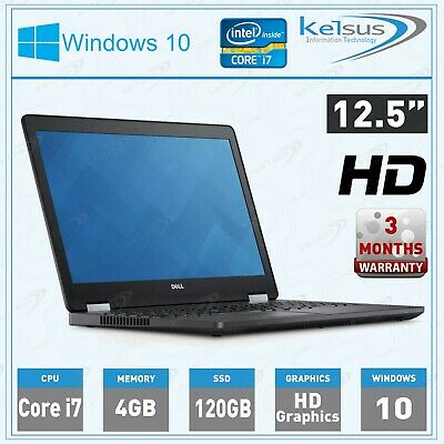 Dell Latitude E7250 12.5  Laptop Core I7 5th GEN SSD HDD Windows 10   • 149.99£