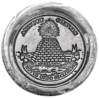 Illuminati Secret Society Pyramid 1 Oz Silver 999 Fine 3D Hand Poured Ingot Coin • 37.35£