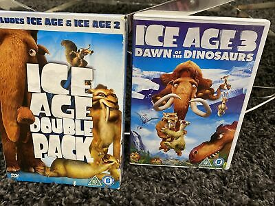 Ice Age/Ice Age 2 -The Meltdown (DVD, 2006, 2-Disc Set, Box Set) Plus Ice Age 3! • 2.18£