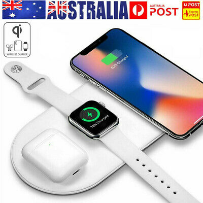AU20.98 • Buy 3 In1 QI Wireless Charger Charging Dock Station For Apple Watch / IPhone/ Pods