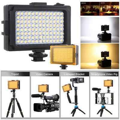 Dimmable 96LED Video Light Photo Camera Hot Shoe LED Lamp For Camcorder DV 120° • 12.69£