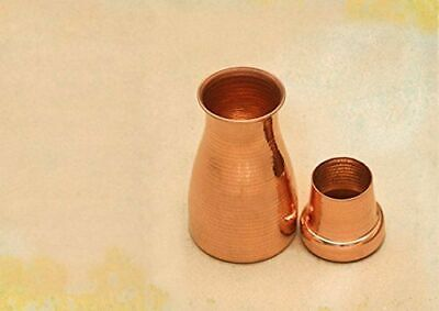 Pure Copper Water Bottle With Glass Water Capacity 750 Ml • 63.70£