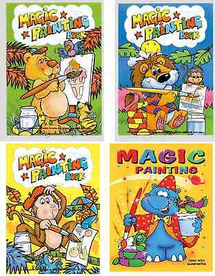£2.65 • Buy Set Of 12 X A6 Magic Painting Colouring Books Children No Mess Craft Series 1025