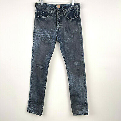 PRPS Demon Acid Wash Straight Leg Distressed Jens Mens Grunge Denim 32 X 35 • 42.91£