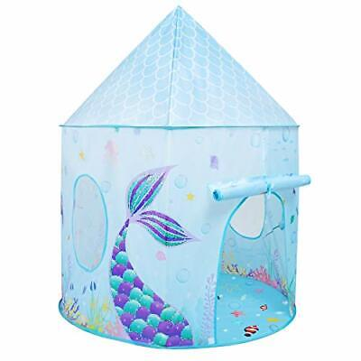 Mermaid Kids Tent - 105 X 135cm Play Tents For Girls Under Sea FairyPrincess • 44.99£