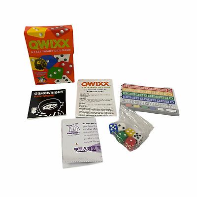 $ CDN12.60 • Buy Gamewright Qwixx Fast Family Dice Game Night 2-5 Players Mensa Winner