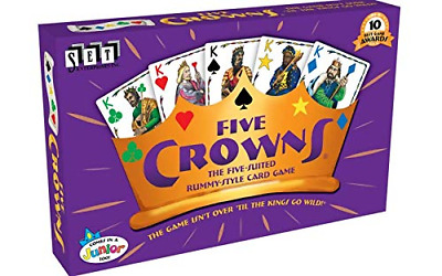 AU13.90 • Buy Set Enterprises FIVE CROWNS 5-Suited Rummy-Style Card Game