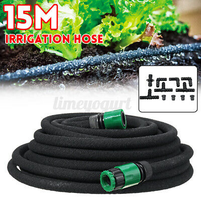 Micro Automatic Drip Irrigation System Kit Porous Soaker Hose Watering Garden • 15.69£