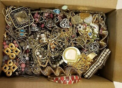 $ CDN61.85 • Buy Designer Signed Jewelry Lot Vintage Now Gold Silver Rhinestone Statement