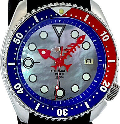 $ CDN86.99 • Buy Vintage SEIKO PEPSI Diver FISH-BONE Hands MOP Dial MOD Genuine 7002 Case & Movt.