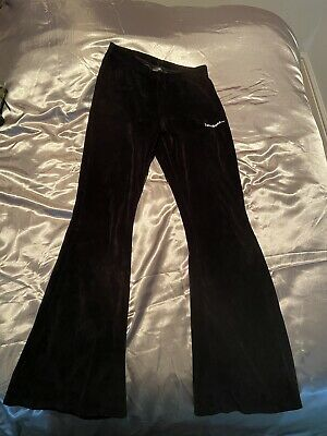 Y2k Urban Outfitters Iets Frans Flared Velvet Trousers Barely Worn Size Small • 10£