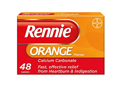 Rennie Antacids, Orange Flavour Heartburn Relief And Indigestion Tablets, Fast 1 • 4.96£